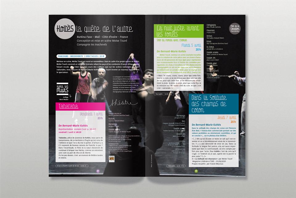 Double pages intérieures du programme de l'Heure Bleue