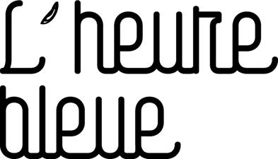logotype et identité visuelle de la salle de spectacle l'Heure Bleue