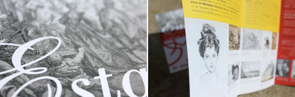 Details du dépliant pour l'exposition Estampes du Musée de Valence