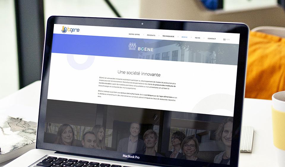 bgene-site-web-ligne-graphique-biotech-agence