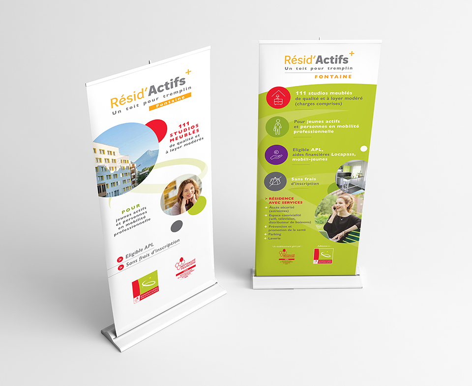 mutualité-francaise-roll-up-stand-graphisme-communication